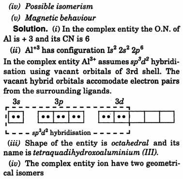 Complex entity [Al(H2O)4 (OH)2] IUPAC name and shape 2