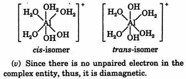Complex entity [Al(H2O)4 (OH)2] IUPAC name and shape 3