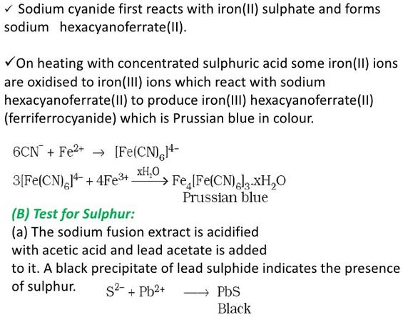 Detection of Sulphur