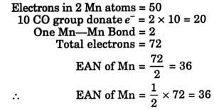 EAN 2 Co-ordination Compounds