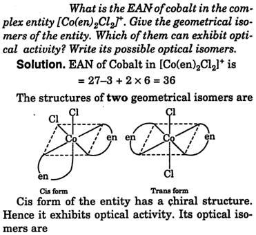 EAN of Cobalt complex [Co(en)2Cl2] 1