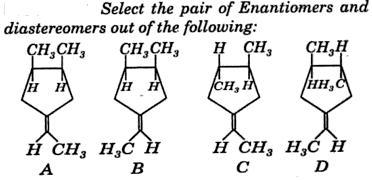 Enantiomers diastereomers example 1