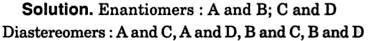 Enantiomers diastereomers example 2
