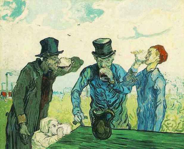 Enjoying the drink Vincent Van Gogh