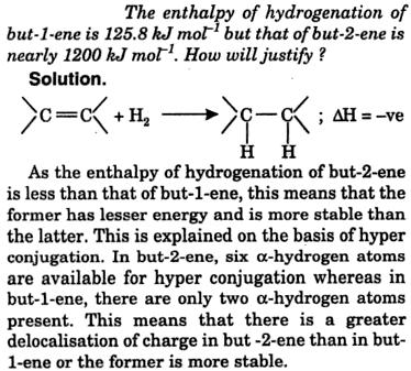 Enthalpy of hydrogenation of but-1-ene 1