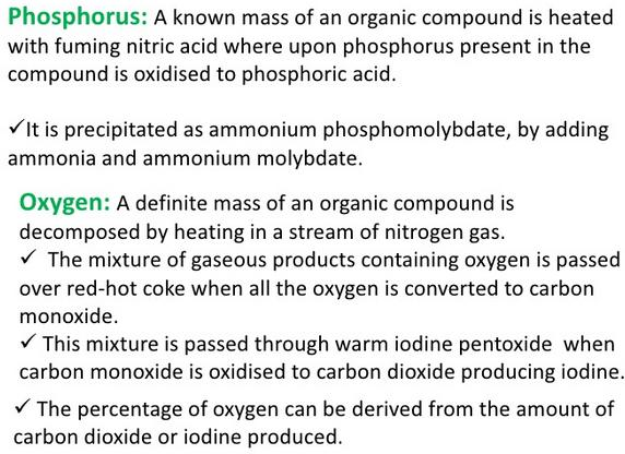 Estimation of Phosphorus and Oxygen
