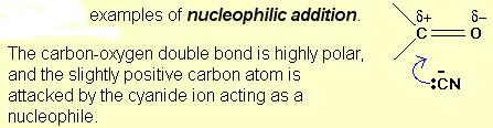 Example of Nucleophilic addition