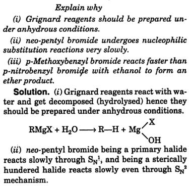 Explain why Grignard reagent should be prepared anhydrous 1