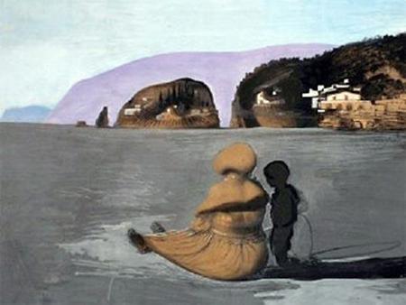 face in ocean Salvador Dali
