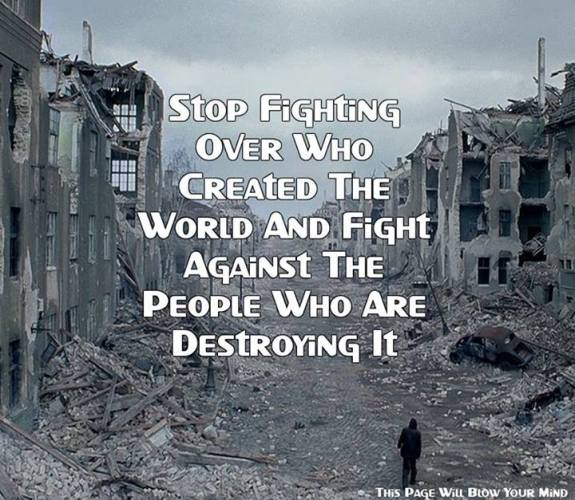 Fight against people who are destroying it