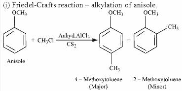 Friedel-Crafts reaction – alkylation of anisole