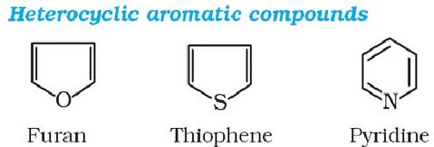 Heterocyclic aromatic compounds Furan Thiophene Pyridine