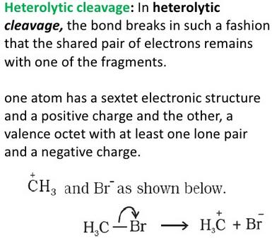 Heterocyclic Clevage electron remains in 1 side