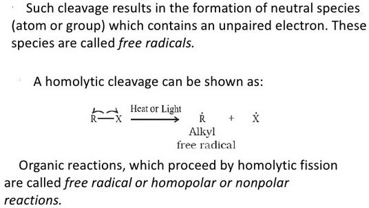 Homolytic cleavage b