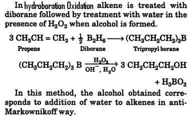 Hydroboration Oxidation reaction Diborane Tripropylborane