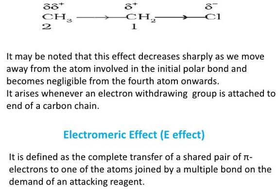 +I effect and electromeric effect