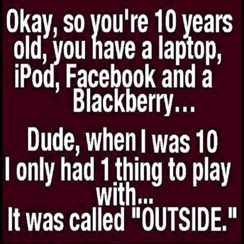 i play outside
