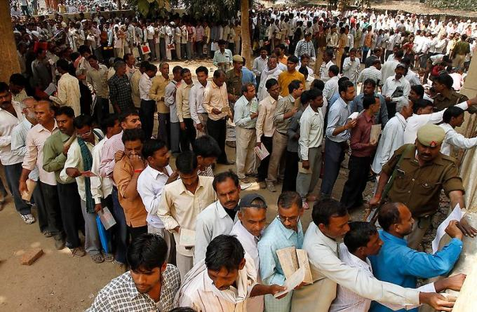 Indian Unemployed men in Allahabad