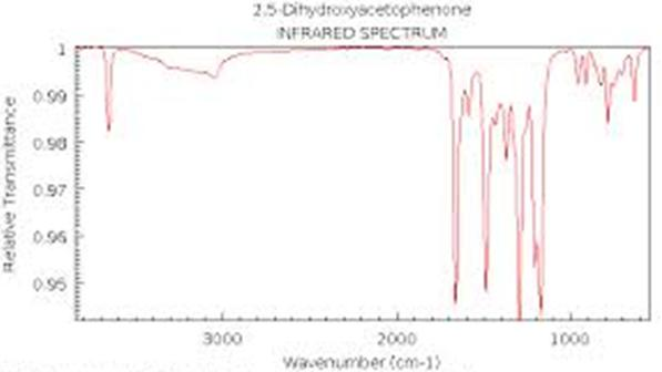 IR spectrum of 2,5 dihydroxyacetophenone