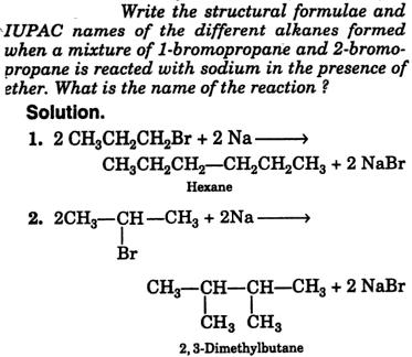 IUPAC names of alkanes formed 1