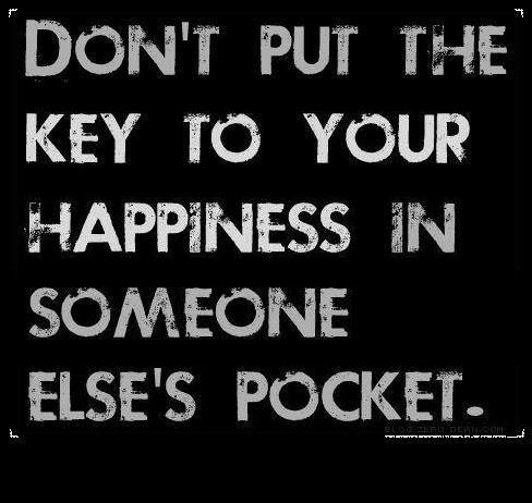 key of happiness in someone elses pocket