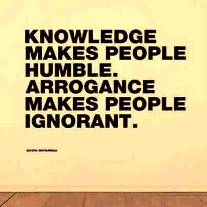knowledge makes people humble