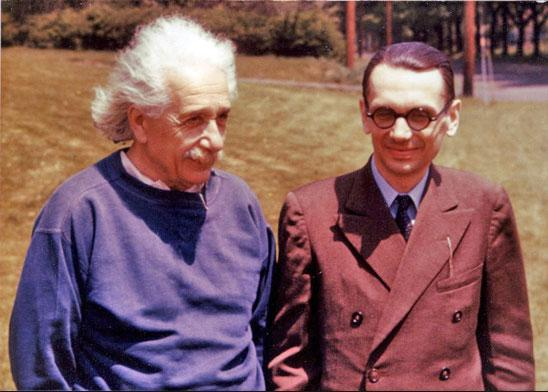Kurt Godel with Albert