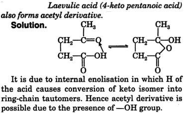Laevulic acid = 4-ketopentanoic acid