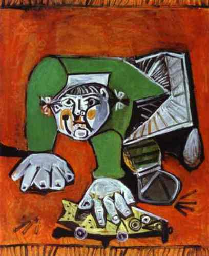man crowling pablo picasso