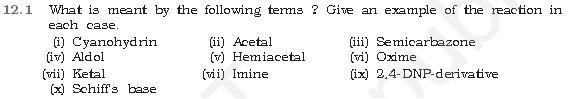 NCERT CBSE 12.1 Question Aldehydes Ketones Carboxylicacids