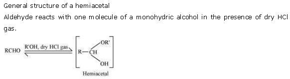 NCERT CBSE 12.1 Solution 5-2 Hemiacetal