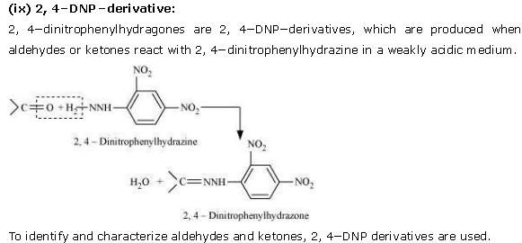 NCERT CBSE 12.1 Solution 9 2,4-DNP-derivative