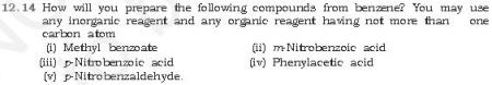 NCERT CBSE 12.14 Question Compounds of Benzene