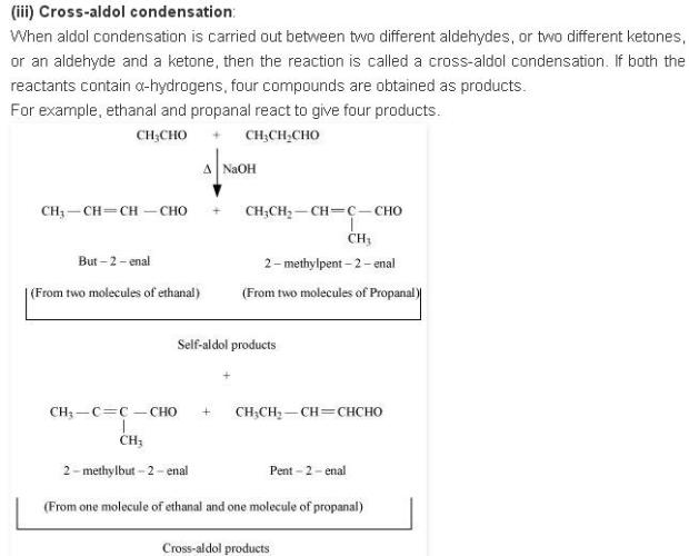 NCERT CBSE 12.16 2 Solution Cross Aldol Condensation