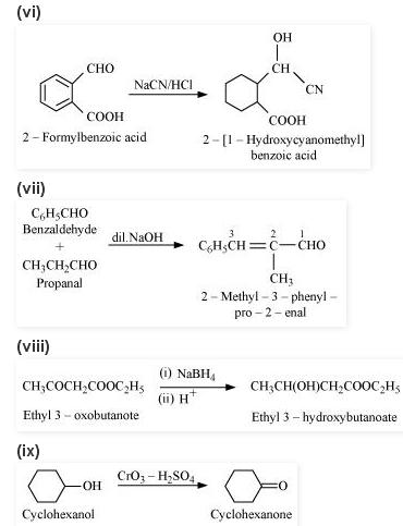NCERT CBSE 12.17 2 Solution Complete each synthesis