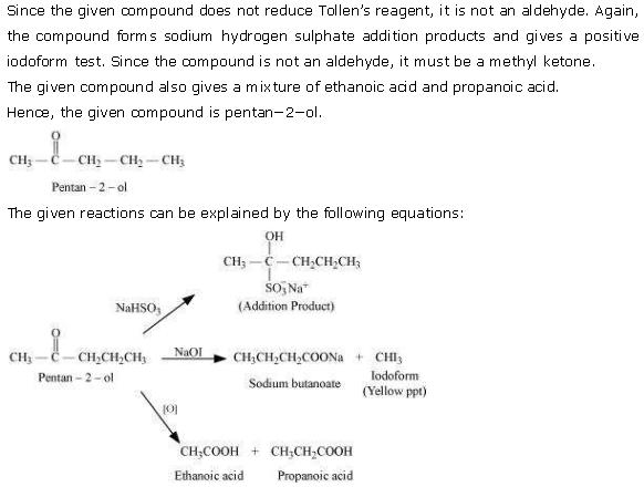 NCERT CBSE 12.19 Solution Identify the compound