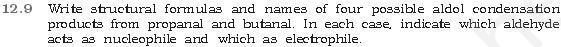 NCERT CBSE 12.9 Question Aldol Condensations