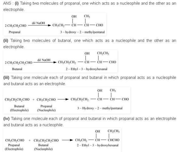 NCERT CBSE 12.9 Solutions Aldol Condensations