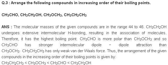 NCERT CBSE Chapter 12 extra 3 Organic