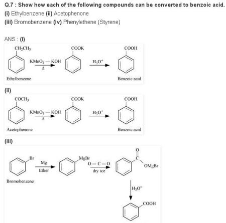 NCERT CBSE chapter 12 extra 7 1 Benzoic acid Organic Chemistry