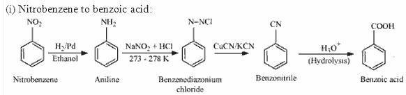 Nitrobenzene to Benzoic Acid