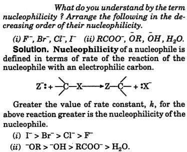 nucleophilicity of various ions