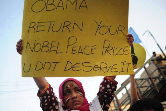 obama doesnot deserve Nobel peace prize