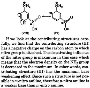 paranitroaniline weaker base than meta nitro aniline 3