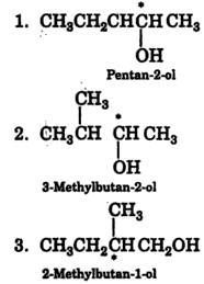 Pentan-2-ol, 3-Methylbutan-2-ol, 2-Methylbutan-1-ol