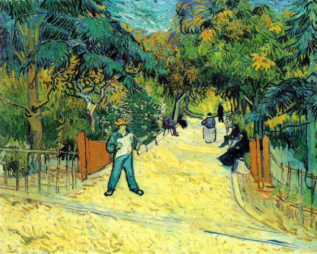 People in park vincent Van Gogh