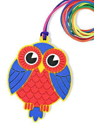 plastic owl necklace
