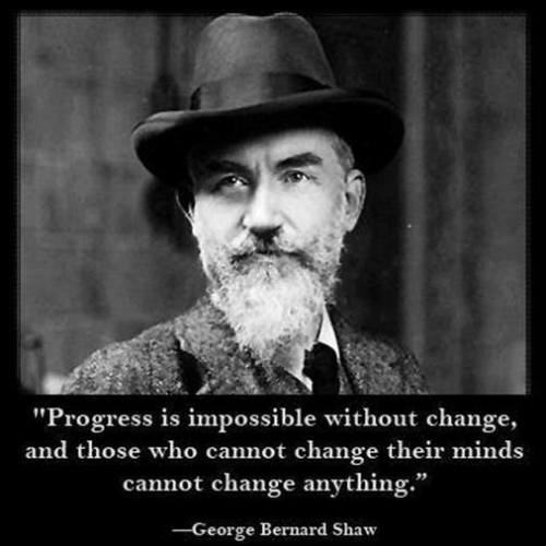 progress is impossible without change