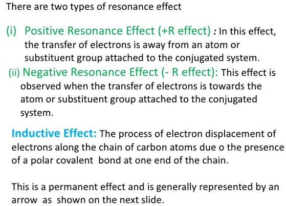 +R and -R effect and Inductive effect
