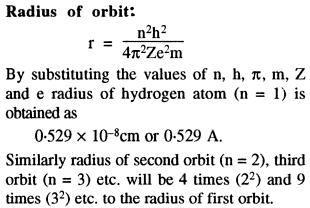Radius of Orbit 0.529 Angstrom into n square